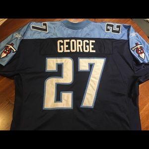Eddie George On Field Official Reebok Jersey